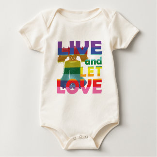 Liberty Bell Live Let Love Baby Bodysuit