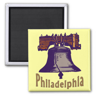 Liberty Bell 2 Inch Square Magnet