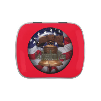 Liberty bell mint candy tin