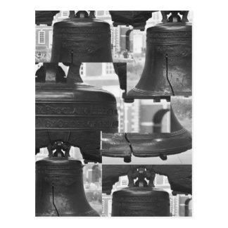 Liberty Bell Montage Postcard