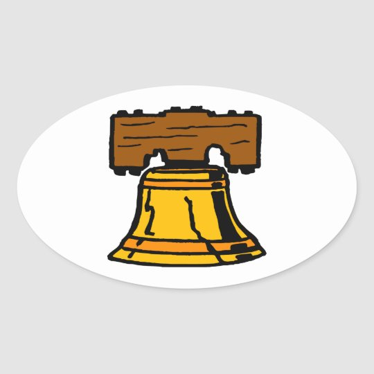 Liberty Bell Oval Sticker