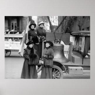 Liberty Bell para el sufragio: 1916 Póster