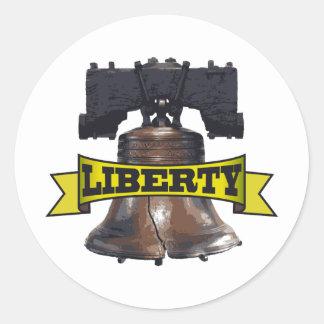 Liberty Bell Pegatina Redonda