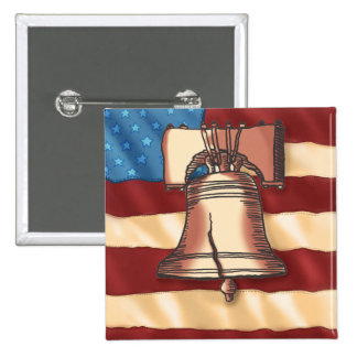 Liberty Bell square pin