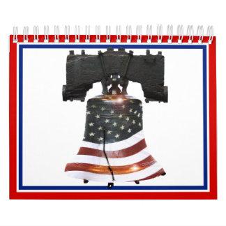 Liberty Bell w/American Flag Wall Calendars
