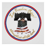 Liberty Bell w/American Flag - Let Freedom Ring Print