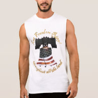 Liberty Bell w/American Flag - Let Freedom Ring Sleeveless Shirt