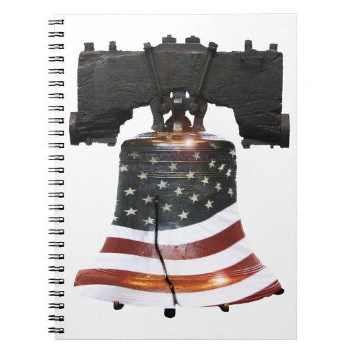 Liberty Bell w/American Flag Note Book