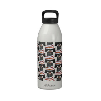 Liberty Bell w American Flag - Pattern Reusable Water Bottle