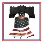 Liberty Bell w/American Flag Photo Cutout