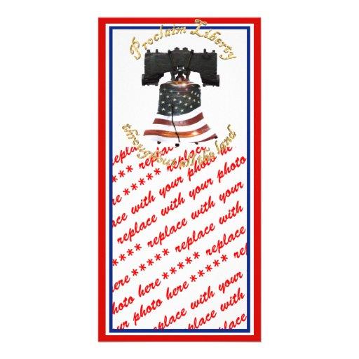 Liberty Bell w/American Flag - Proclaim Liberty Photo Cards