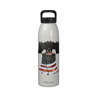 Liberty Bell w American Flag Drinking Bottle