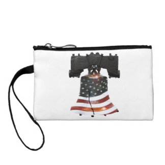 Liberty Bell with American Flag Coin Purse