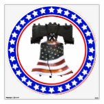 Liberty Bell with American Flag Room Decals