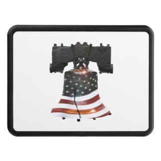 Liberty Bell with American Flag Trailer Hitch Cover