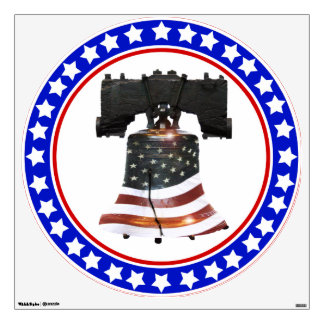 Liberty Bell with American Flag Wall Decal
