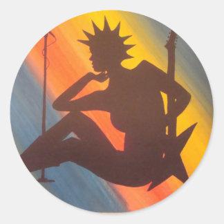 Liberty Belle Classic Round Sticker