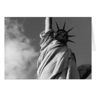liberty black & white greeting card