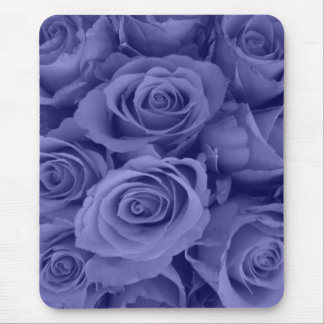 liberty blue roses mouse pad