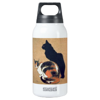 Liberty Bottle. Steinlen. Two Cats. 10 Oz Insulated SIGG Thermos Water Bottle