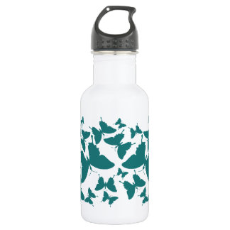 Liberty Bottle with butterfly pattern in hunter gr