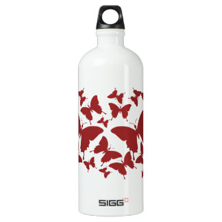 Liberty Bottle with butterfly pattern in maroon co