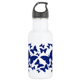 Liberty Bottle with butterfly pattern in navy blue