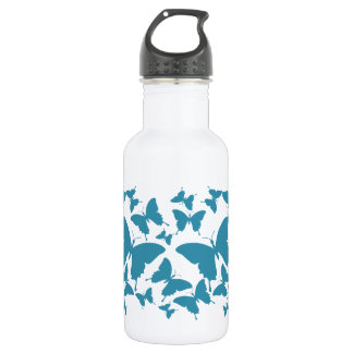 Liberty Bottlewith butterfly pattern in light blue Stainless Steel Water Bottle