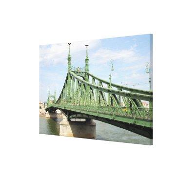 Beach Themed Liberty Bridge, Budapest, Hungary Canvas Print