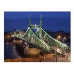 Liberty Bridge by night Postcard