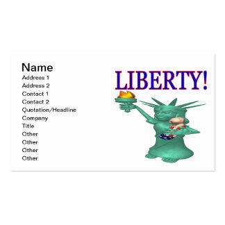 Liberty Double-Sided Standard Business Cards (Pack Of 100)