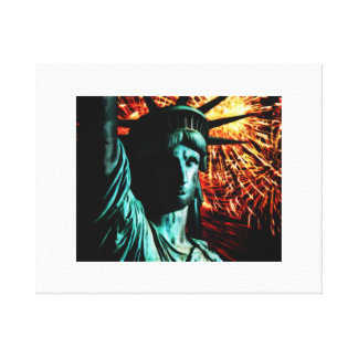 Liberty by night canvas print