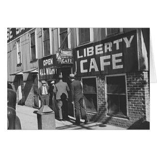 Liberty Cafe Vintage 1939 Restaurant Photo Card