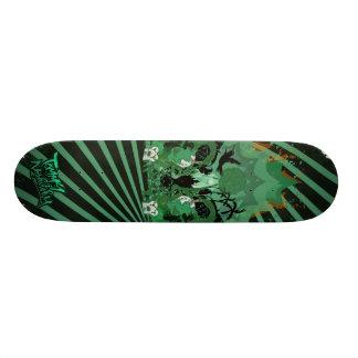 liberty city dark green skate board deck