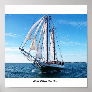 Liberty Clipper, Key West Poster