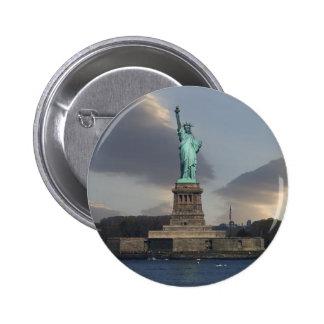 Liberty Clouds Button Pin