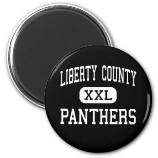 Liberty County - Panthers - High - Hinesville 2 Inch Round Magnet