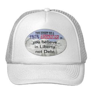 liberty debt trucker hat