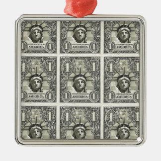 Liberty Dollar Metal Ornament
