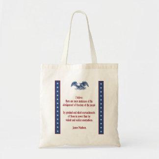 liberty eagle madison tote bag