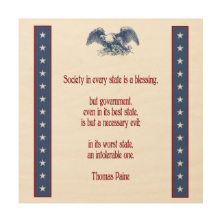 liberty eagle rustic wall plaque Thomas Paine Wood Wall Art
