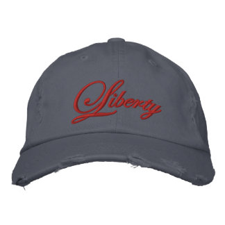 Liberty Embroidered Hat (Red)