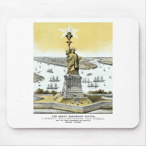 Liberty Enlightening The World Mouse Pad