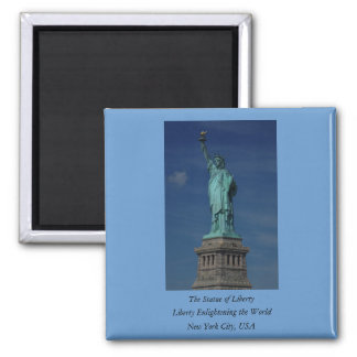 Liberty Enlightening the World - Statue of Liberty 2 Inch Square Magnet