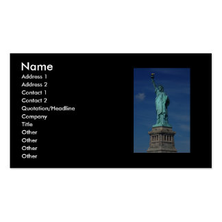 Liberty Enlightening the World - Statue of Liberty Business Card Template