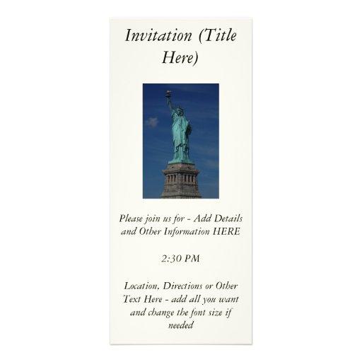 Liberty Enlightening the World - Statue of Liberty Invite