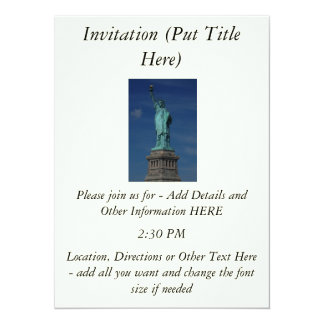 Liberty Enlightening the World - Statue of Liberty 5.5x7.5 Paper Invitation Card
