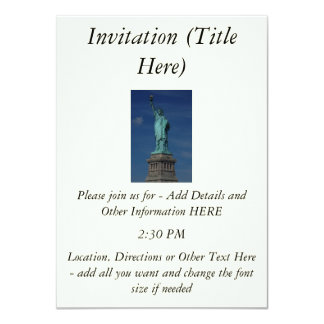 Liberty Enlightening the World - Statue of Liberty 4.5x6.25 Paper Invitation Card
