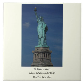 Liberty Enlightening the World - Statue of Liberty Large Square Tile