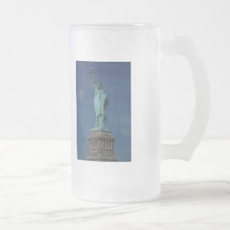 Liberty Enlightening the World - Statue of Liberty 16 Oz Frosted Glass Beer Mug